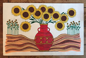 Painting by Dawna Flowers, If Van Gogh Went to Mexico.
