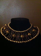 Ancient Egyptian inspired costume jewelry. Collar necklace, cosplay garb by Dawna Flowers. Steampunk