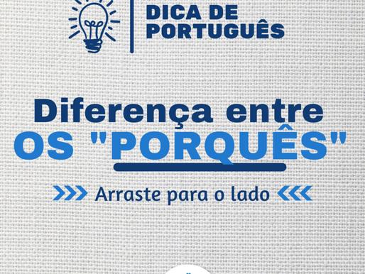 """DIFERENÇA ENTRE OS """"PORQUÊS"""""""