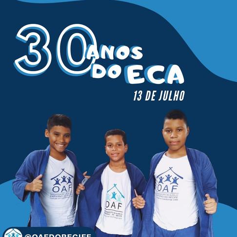 Dia 13 de Julho, 30 anos do ECA!