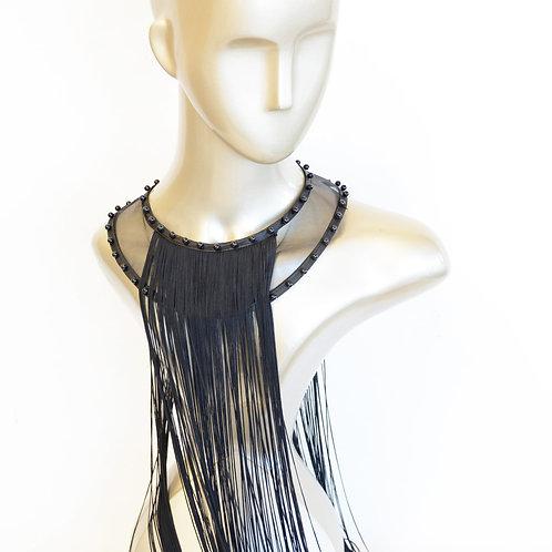 Black Widow Fringe Necklace