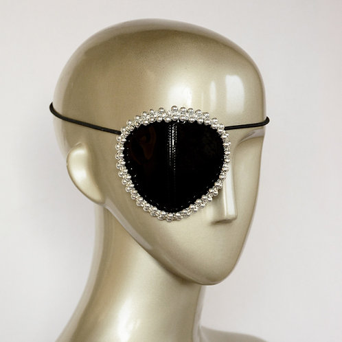 Black and Silver Eyepatch