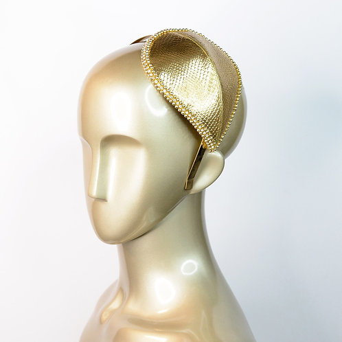 Golden Pearl Fascinator