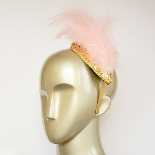 Gold and Pink Fascinator