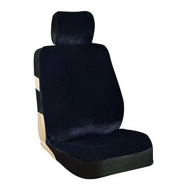 Чехлы сиденья меховые искусственные мутон 2 предм. SKYWAY ARCTIC Черный 1075
