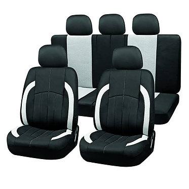Чехлы сиденья SKYWAY Forward- 3 полиэстер/сетка 9 предм. черно/серый