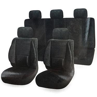 Чехлы сиденья SKYWAY Protect Plus-10 вельвет 11 предм. Черный