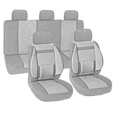 Чехлы сиденья SKYWAY Protect Plus-10 вельвет 11 предм. серый