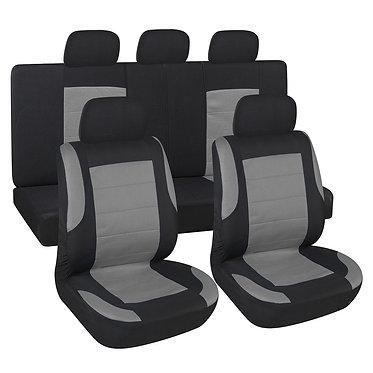 Чехлы сиденья SKYWAY Forward- 6 полиэстер/сетка 9 предм. черно/серый