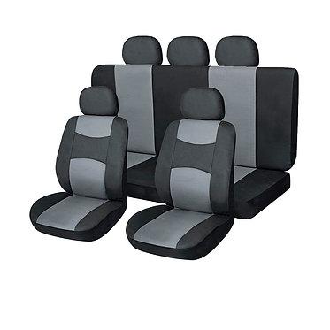 Чехлы сиденья SKYWAY Prestige-3 экокожа 11 предм. черно/серый