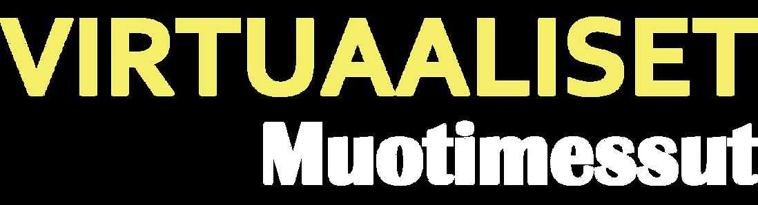 virtuaaliset muotimessut logo valkoinen.