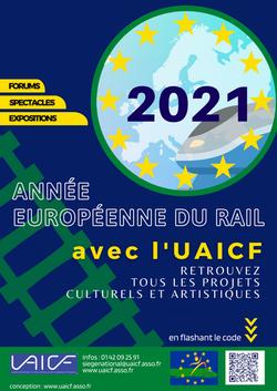 2021 affiche année européenne du rail