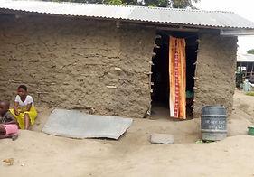 Elderly lady's house before repair