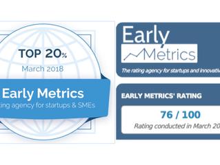 法國Early Metrics評選ThinkCloud為全球前20%新創企業