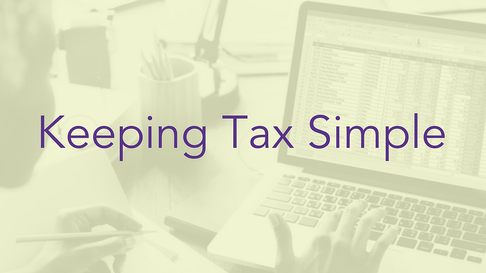 Blog title- Keeping Tax Simple