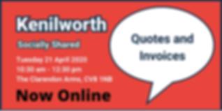 Kenilworth Online April 2020 Eventbrite.