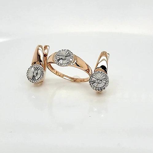 Комплект золотой с бриллиантами