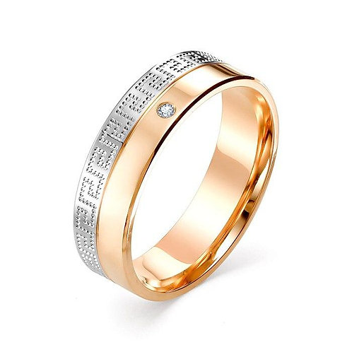 Кольцо золотое обручальное с бриллиантом