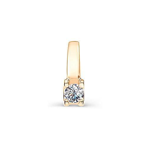 Подвеска золотая с бриллиантом