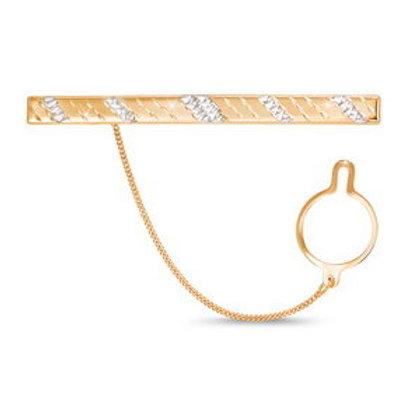 Зажим для галстука золотой