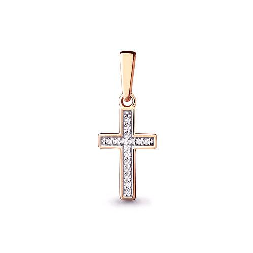 Крест золотой с бриллиантами