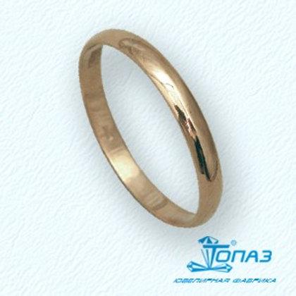 Кольцо золотое обручальное