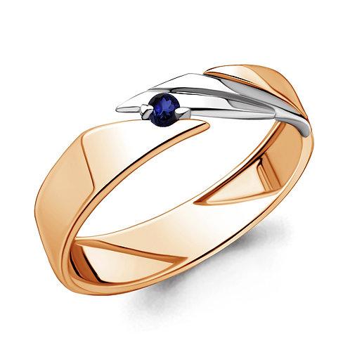 Кольцо золотое c сапфиром