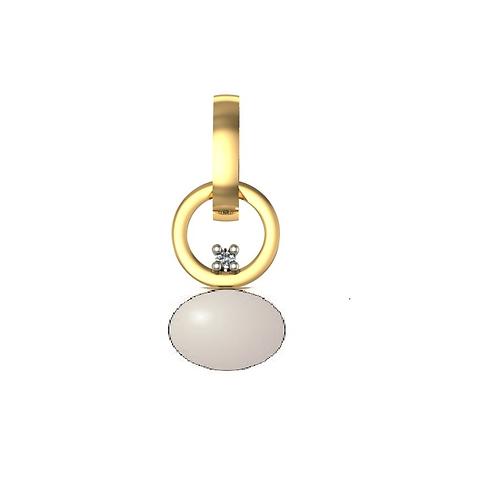 Подвеска золотая с жемчугом