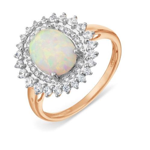 Кольцо золотое с опалом