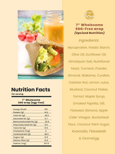 "7"" Wholesome EGG-Free wrap (Upsized Nutrition)"