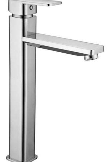 Square Tower Basin Mixer with Rounded Edges