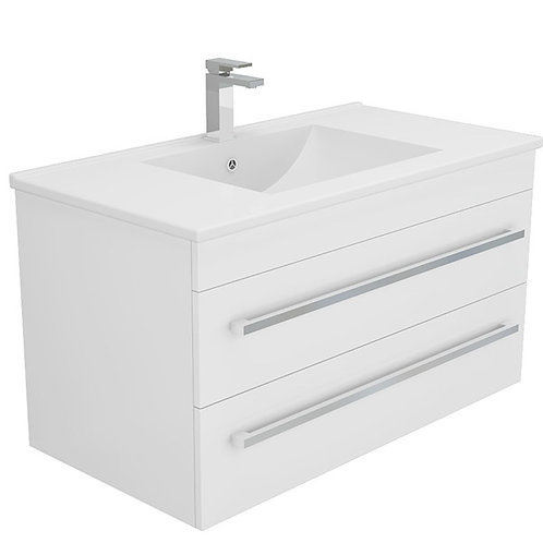 900mm Double-Drawer Wall-Hung Vanity Unit