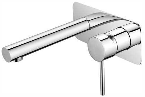 Round Wall Mixer & Spout Combo