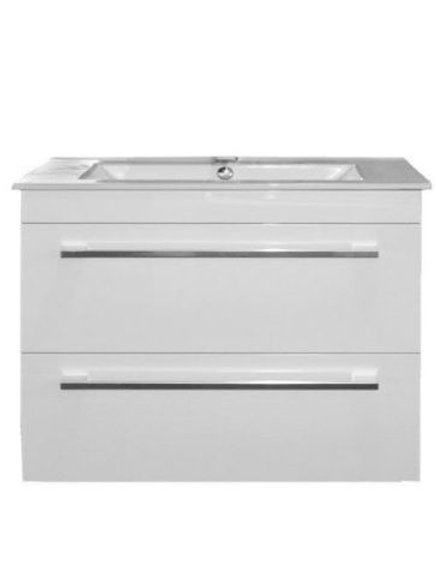 750mm Double-Drawer Wall-Hung Vanity Unit
