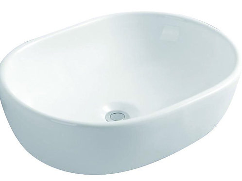 Oval Counter-Top Ceramic Basin