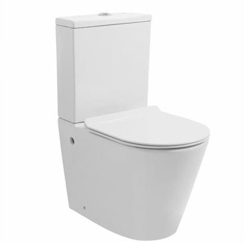 RIMLESS Back to Wall Ceramic Toilet