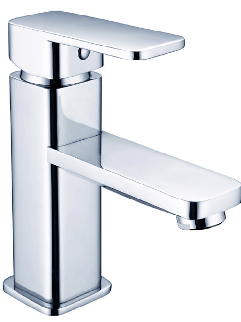 Square Basin Mixer with Rounded Edges (low spout)