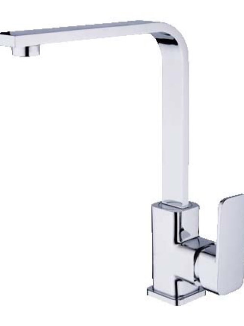 Square Sink Mixer with Rounded Edges