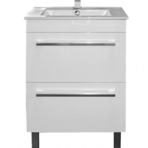 600mm Double-Drawer Vanity Unit