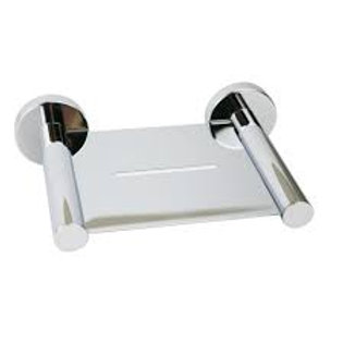 Round Soap Tray in Chrome