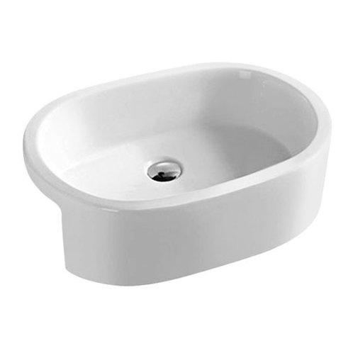 Oval Semi-Recess Ceramic Basin