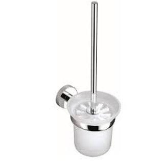 Round Toilet Brush & Holder in Chrome