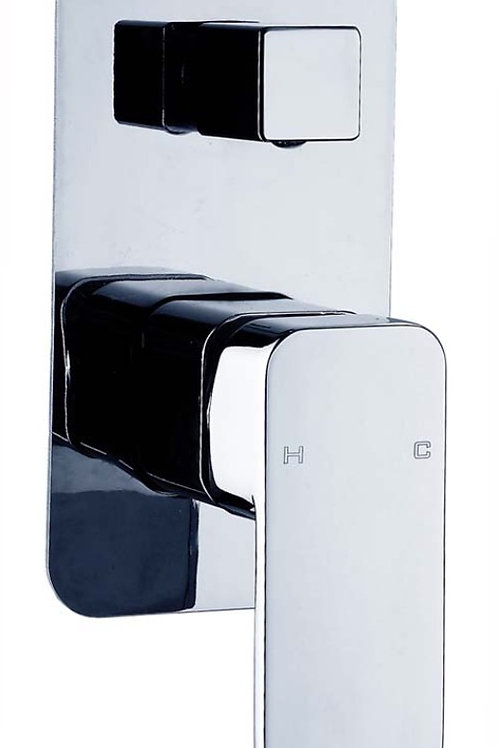 Square Diverter Wall Mixer with Rounded Edges