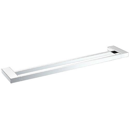800mm Slimline Square Double Towel Rail (Chrome)