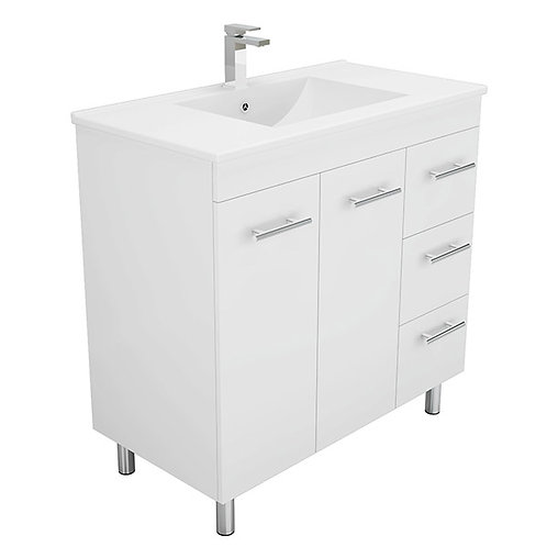 900mm Chrome-Handle Vanity Unit
