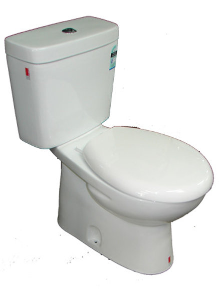 Close Coupled S-Trap Ceramic Toilet