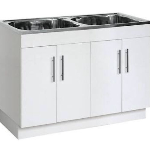 Double Laundry Trough on Timber Cabinet
