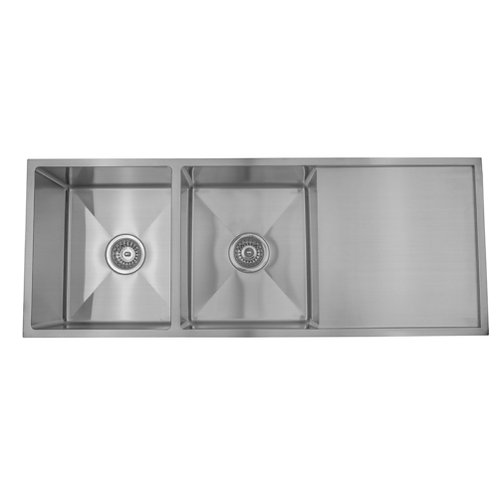 1140mm Double Undermount Sink with Strainer