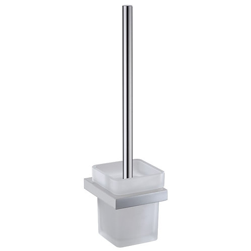 Slimline Square Toilet Brush & Holder (Chrome)