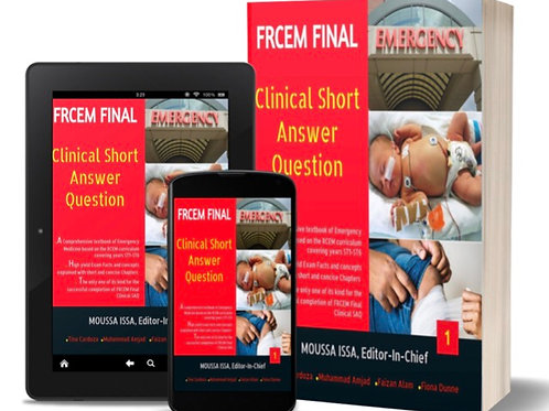 FRCEM FINAL: Clinical Short Answer Question 2019 in Black&White Volumes1& 2